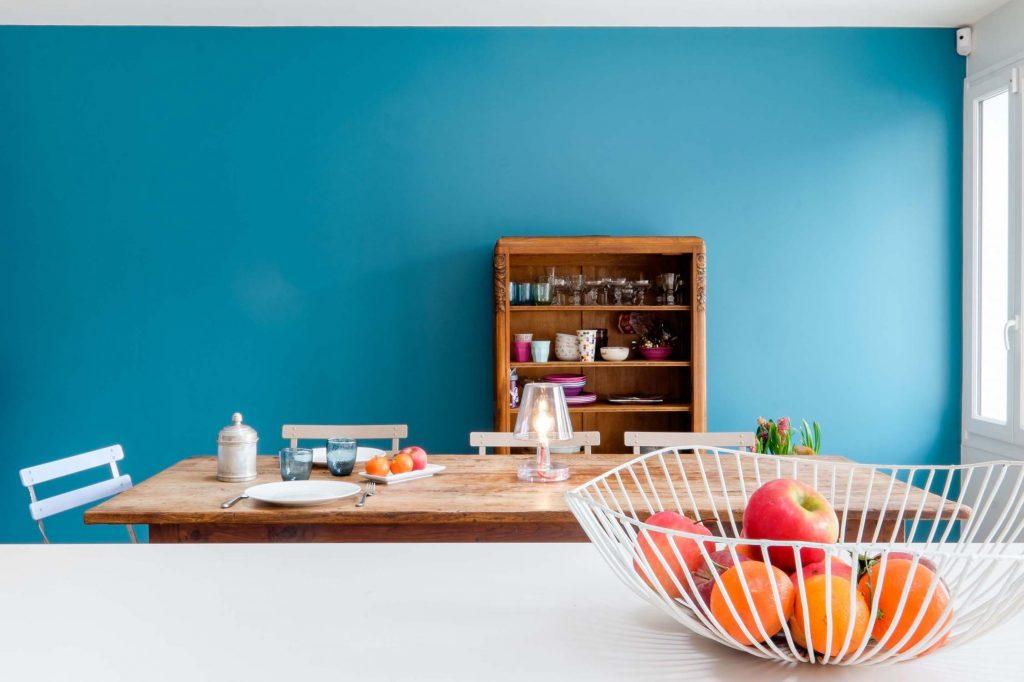 14 Marlene Reynard Maison Montchat Lyon Cuisine Salle A Manger Vintage Bleu Ressources Plan Fenix Dareawood