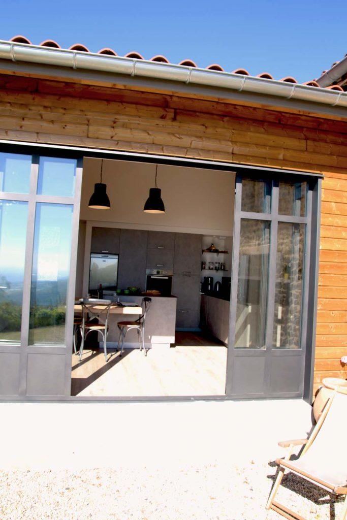 7 Creation Extension Ossature Bois Et Pierre Ancienne Ferme Verriere Mont Du Lyonnais