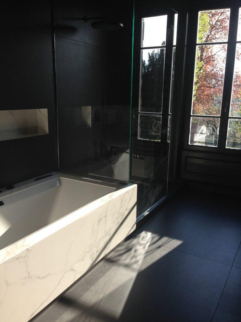 1.projet.maison De Maitre.marlene Reynard.architecture Interieure.marbre Calacata.parquet Pointe De Hongrie.coleandson Wallpaper (2)