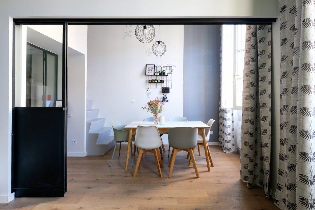 Appartement Canut.croix Rousse. Marlene Reynard.architecture Interieur. Decoration.cuisine.verriere.parquet (1)
