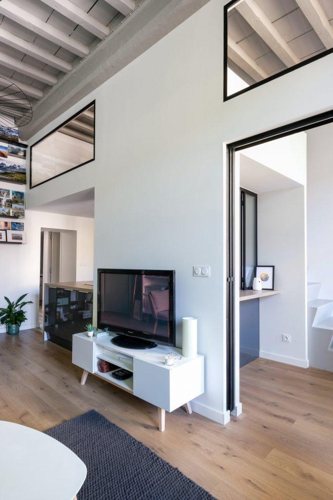 Appartement Canut.croix Rousse. Marlene Reynard.architecture Interieur. Decoration.cuisine.verriere.parquet (12)
