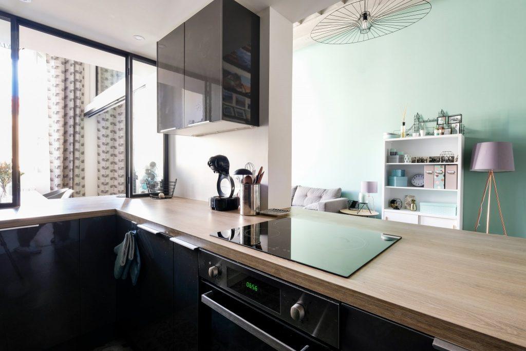 Appartement Canut.croix Rousse. Marlene Reynard.architecture Interieur. Decoration.cuisine.verriere.parquet (15)