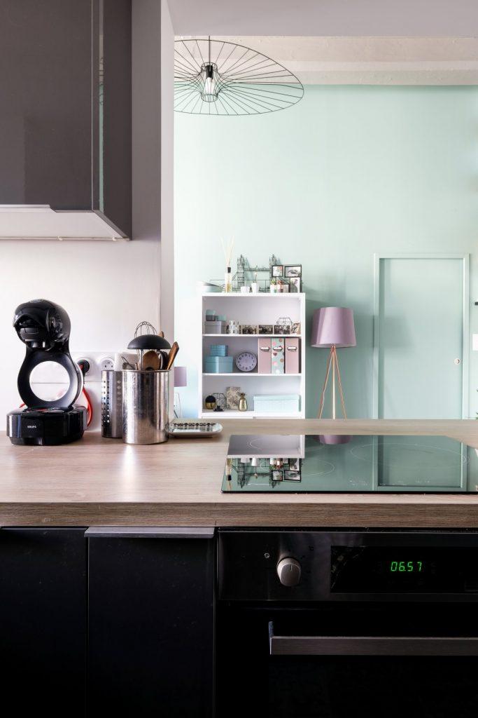Appartement Canut.croix Rousse. Marlene Reynard.architecture Interieur. Decoration.cuisine.verriere.parquet (16)