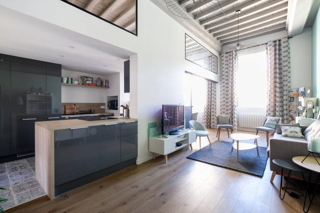 Appartement Canut.croix Rousse. Marlene Reynard.architecture Interieur. Decoration.cuisine.verriere.parquet (18)