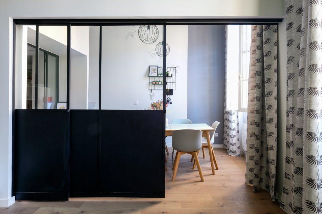 Appartement Canut.croix Rousse. Marlene Reynard.architecture Interieur. Decoration.cuisine.verriere.parquet (2)