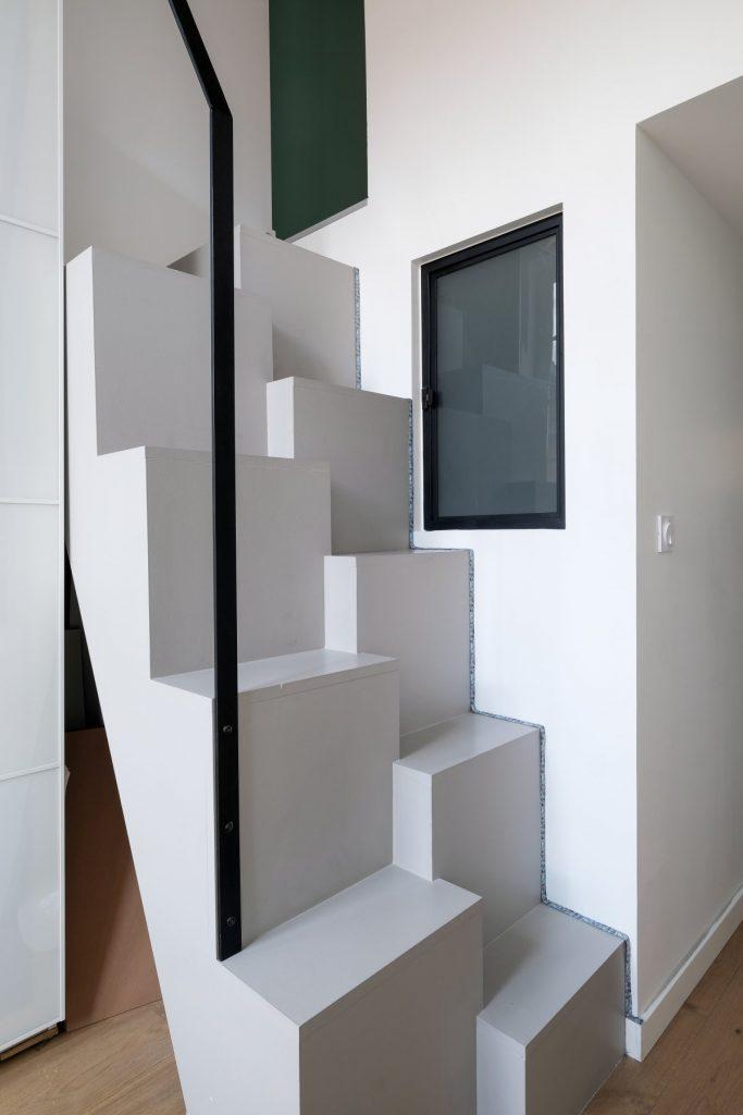 Appartement Canut.croix Rousse. Marlene Reynard.architecture Interieur. Decoration.cuisine.verriere.parquet (25)