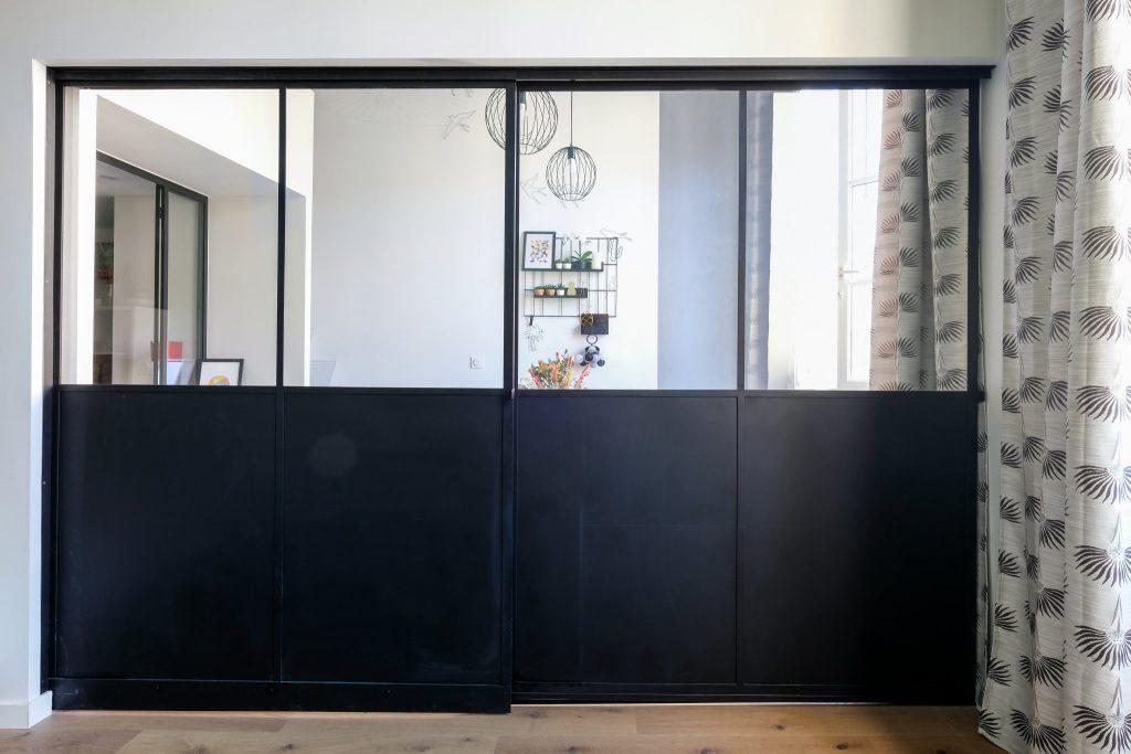 Appartement Canut.croix Rousse. Marlene Reynard.architecture Interieur. Decoration.cuisine.verriere.parquet (3)