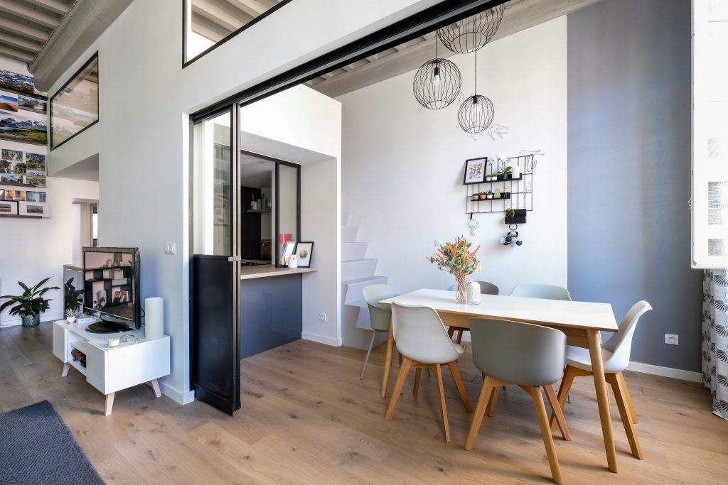Appartement Canut.croix Rousse. Marlene Reynard.architecture Interieur. Decoration.cuisine.verriere.parquet (5)