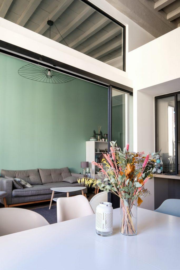 Appartement Canut.croix Rousse. Marlene Reynard.architecture Interieur. Decoration.cuisine.verriere.parquet (6)