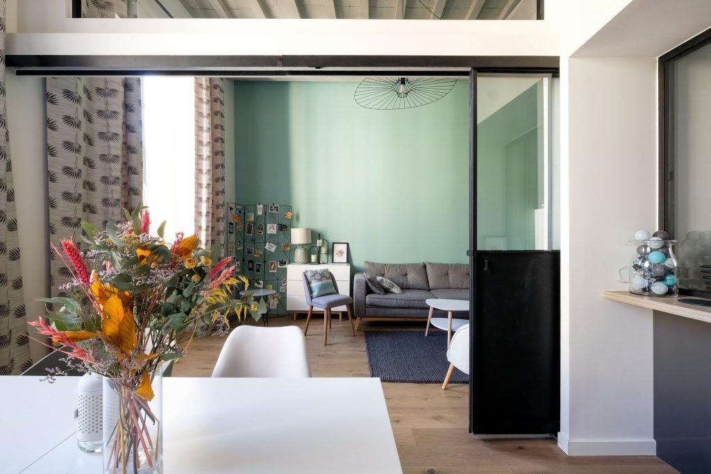 Appartement Canut.croix Rousse. Marlene Reynard.architecture Interieur. Decoration.cuisine.verriere.parquet (7)