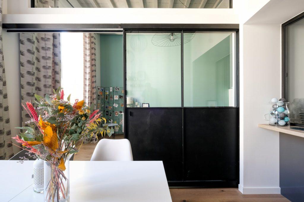 Appartement Canut.croix Rousse. Marlene Reynard.architecture Interieur. Decoration.cuisine.verriere.parquet (8)