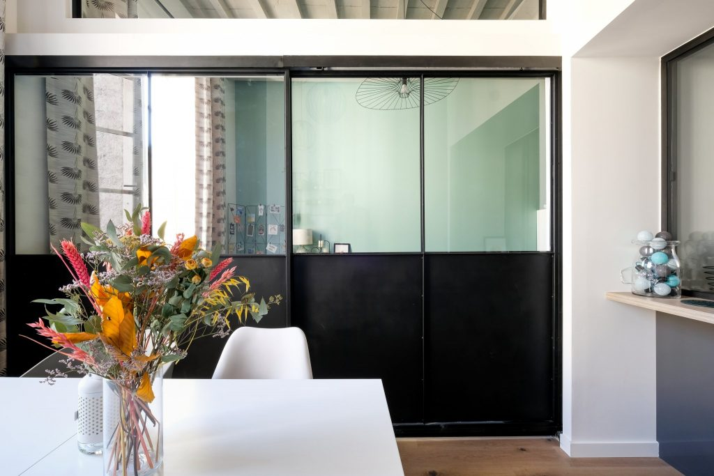 Appartement Canut.croix Rousse. Marlene Reynard.architecture Interieur. Decoration.cuisine.verriere.parquet (9)