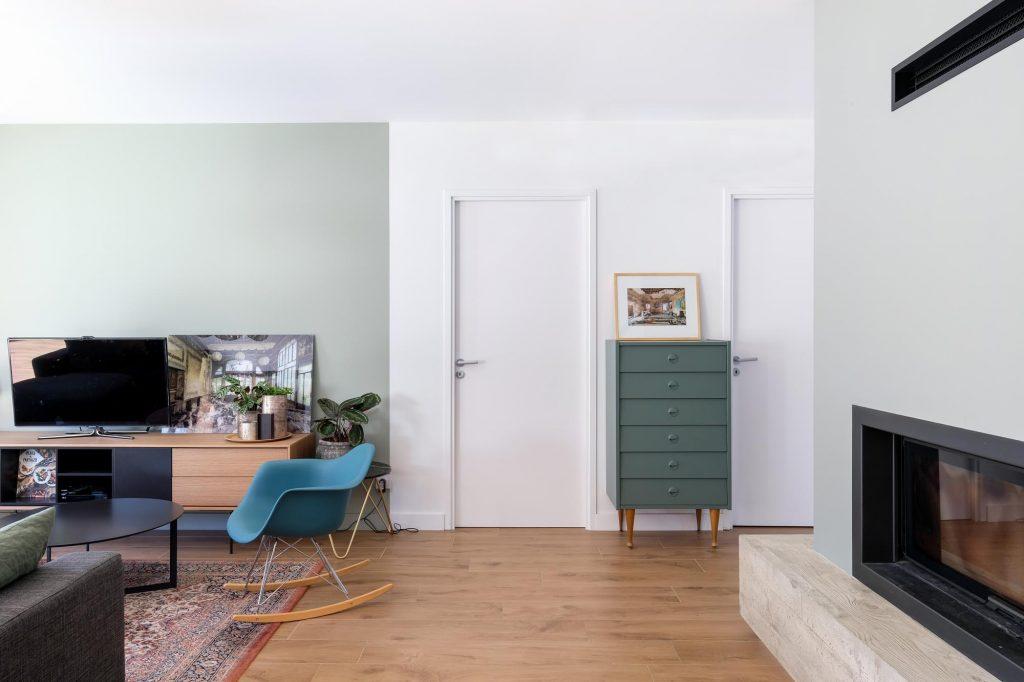 maison sainte foy les lyon. agence Marlène Reynard. renovation. extension.cuisine.séjour.cheminée 2